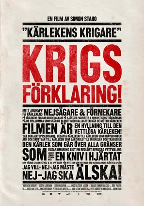 Kärlekens krigare - Swedish Movie Poster (thumbnail)