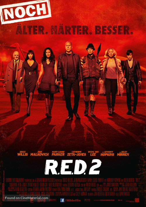 RED 2 - German Movie Poster