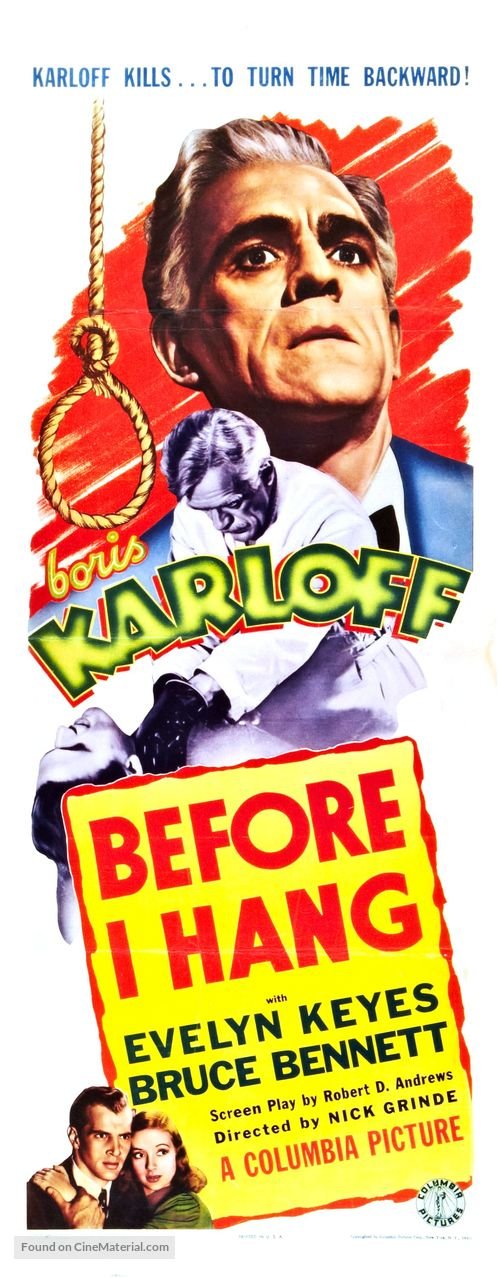 Before I Hang - Movie Poster