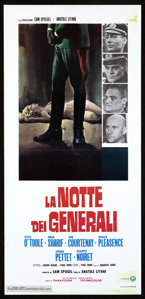 The Night of the Generals - Italian Movie Poster