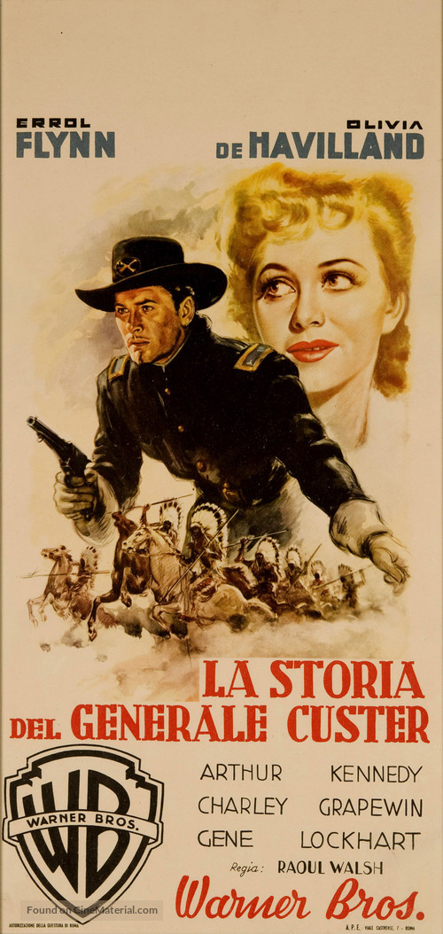 They Died with Their Boots On - Italian Movie Poster