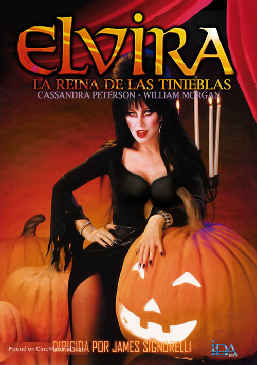 Elvira, Mistress of the Dark - Spanish Movie Cover
