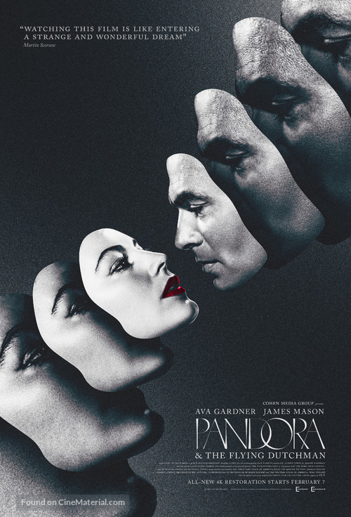 Pandora and the Flying Dutchman - Re-release movie poster