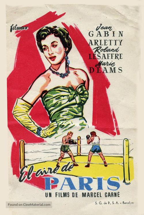 Air de Paris, L' - Spanish Movie Poster