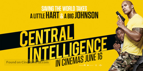 Central Intelligence 2016 British Movie Poster