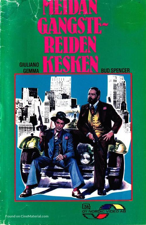 Anche Gli Angeli Mangiano Fagioli - Finnish VHS movie cover
