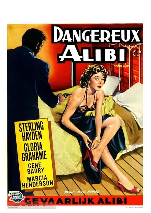 Naked Alibi - Belgian Movie Poster
