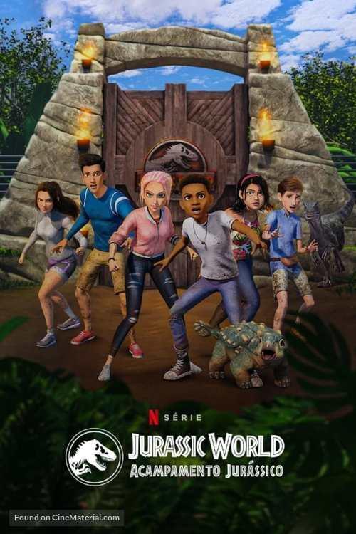 """Jurassic World: Camp Cretaceous"" - Brazilian Movie Cover"