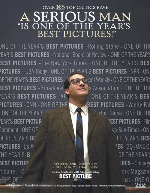 A Serious Man - For your consideration movie poster