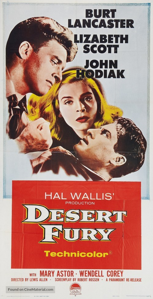 Desert Fury - Movie Poster