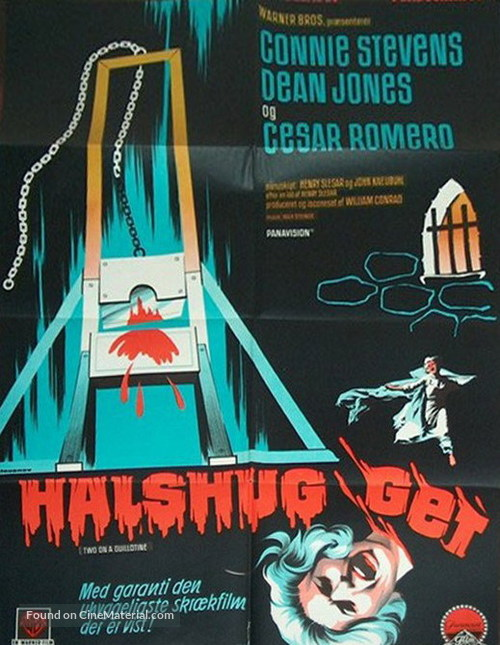 Two on a Guillotine - Danish Movie Poster