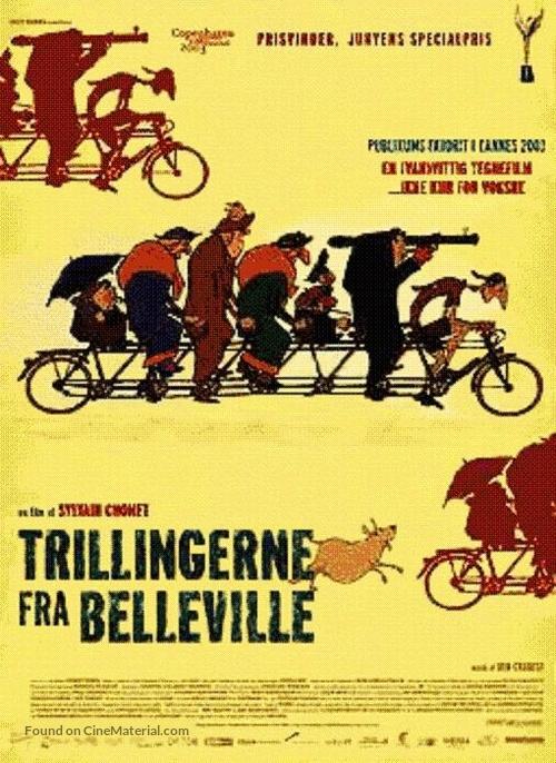 Les triplettes de Belleville - Danish Movie Poster