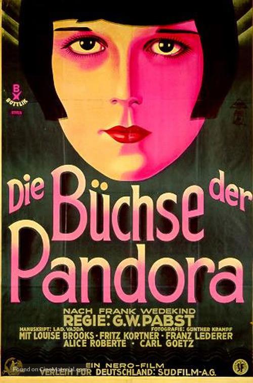 Die Büchse der Pandora - German Movie Poster