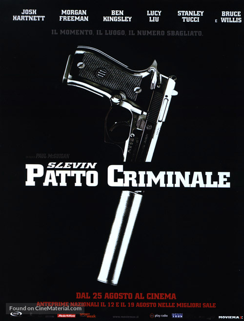 Lucky Number Slevin - Italian Movie Poster
