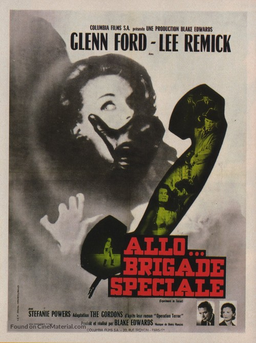 Experiment in Terror - French Movie Poster
