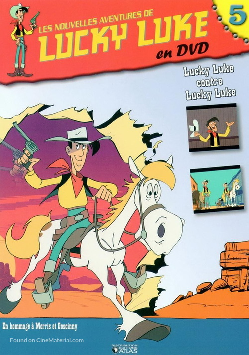 """Les nouvelles aventures de Lucky Luke"" - French Movie Cover"