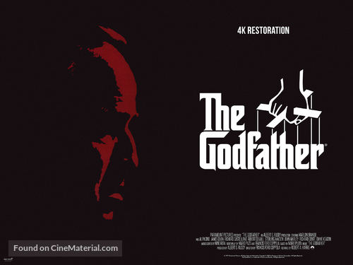 The Godfather - British Re-release movie poster