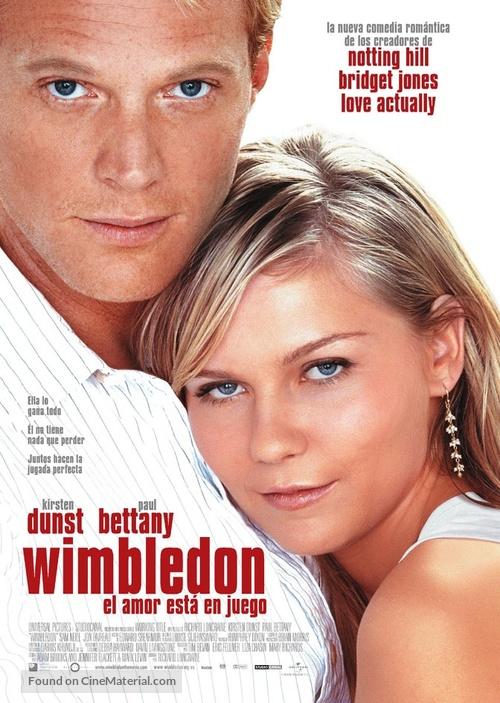 Wimbledon - Spanish Movie Poster