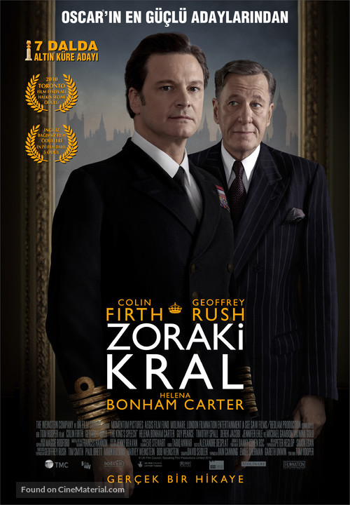 The King's Speech - Turkish Movie Poster