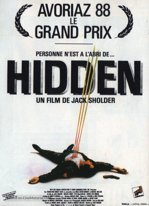 The Hidden - French Movie Poster