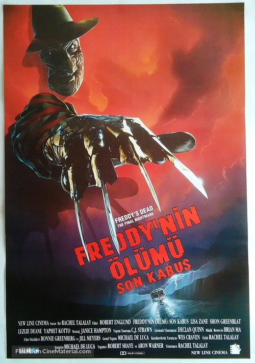 Freddy's Dead: The Final Nightmare - Turkish Movie Poster