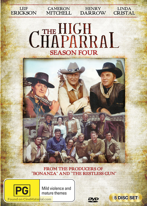 """""""The High Chaparral"""" - Australian DVD movie cover"""