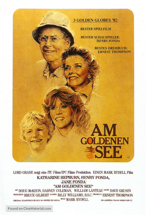 On Golden Pond - German Movie Poster