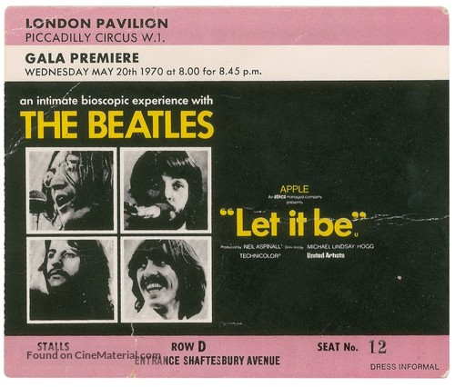 Let It Be - British poster
