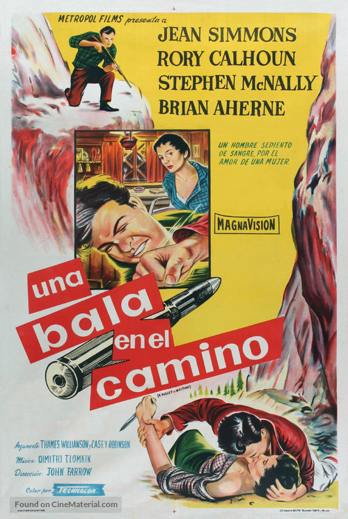 A Bullet Is Waiting - Argentinian Movie Poster