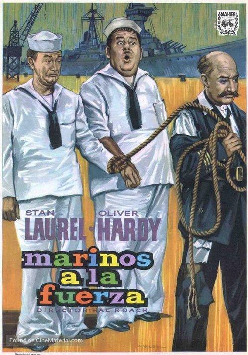 Saps at Sea - Spanish Movie Poster