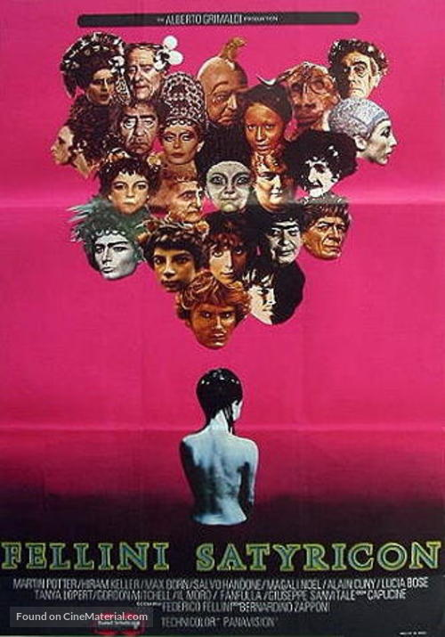 Fellini - Satyricon - Swedish Movie Poster