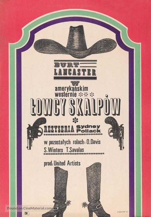 The Scalphunters - Polish Movie Poster