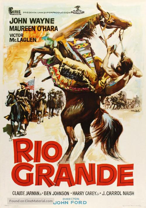 Rio Grande - Spanish Movie Poster