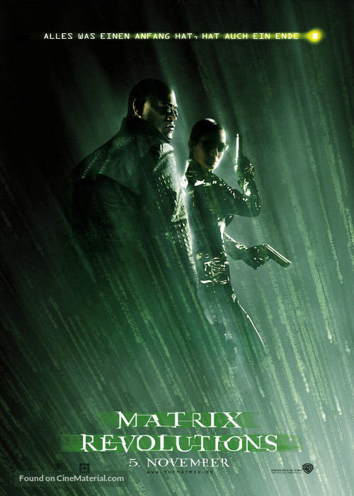 The Matrix Revolutions - German Movie Poster