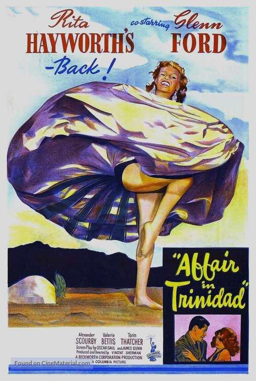 Affair in Trinidad - Australian Movie Poster