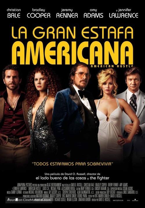 American Hustle - Spanish Movie Poster