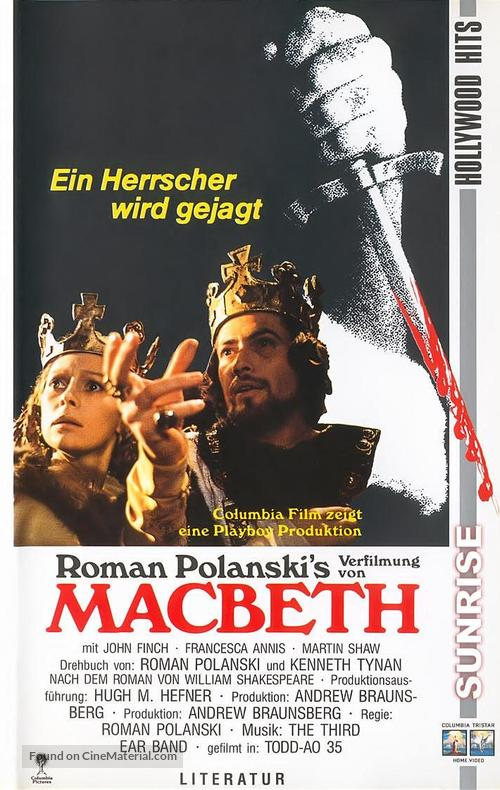 a comparison of macbeths movie version by polanski and shakespeares version