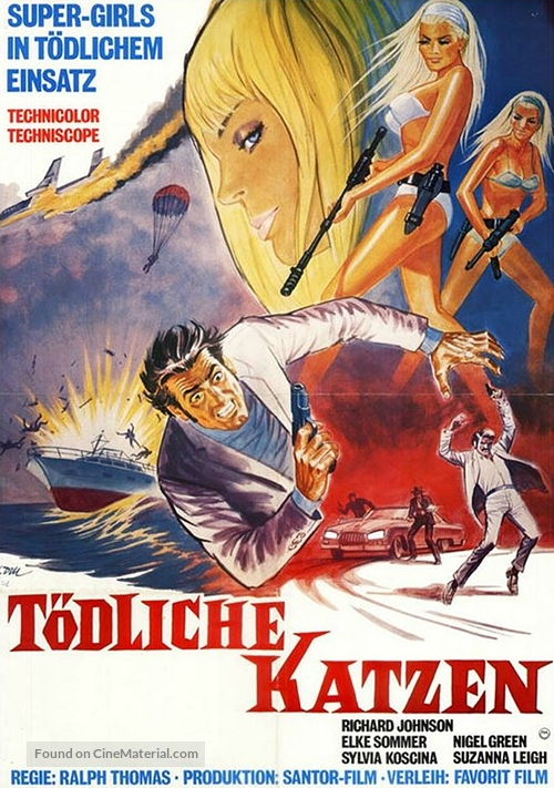Deadlier Than the Male - German Movie Poster