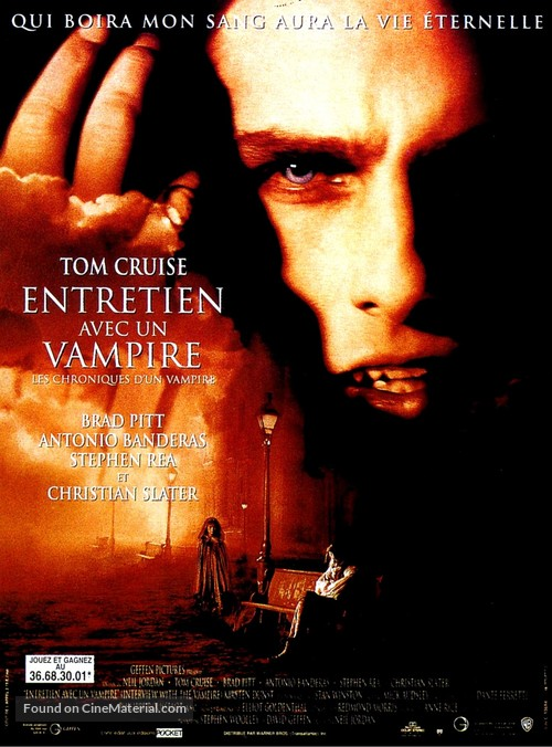 Interview With The Vampire - French Movie Poster