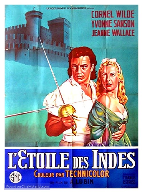 Star of India - French Movie Poster