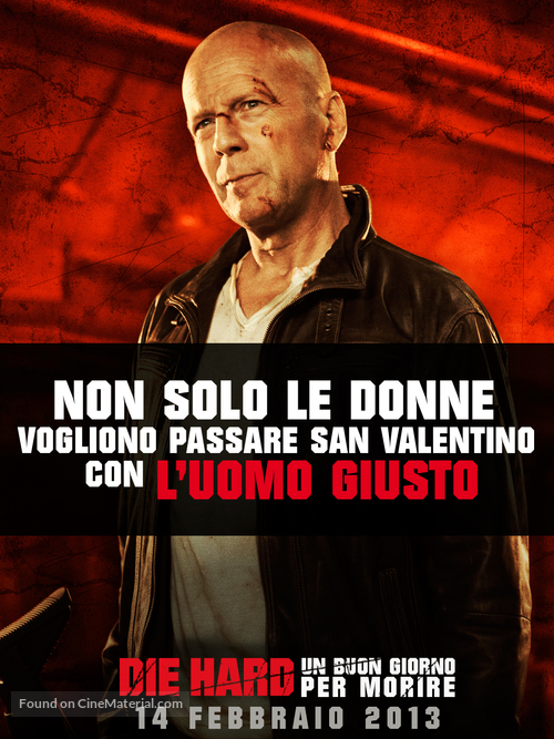 A Good Day to Die Hard - Italian Movie Poster