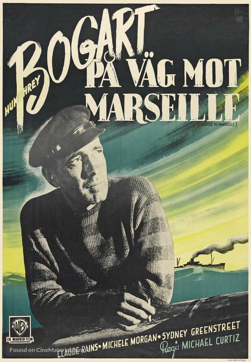Passage to Marseille - Swedish Movie Poster