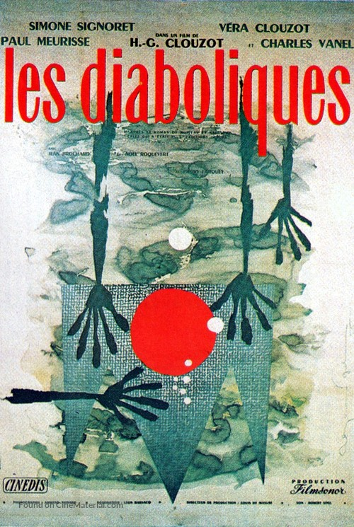 Les diaboliques - French Movie Poster
