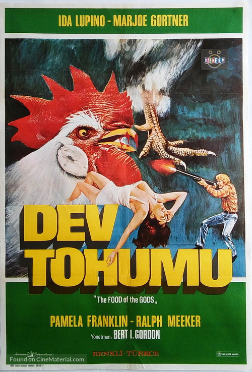 The Food Of The Gods 1976 Turkish Movie Poster