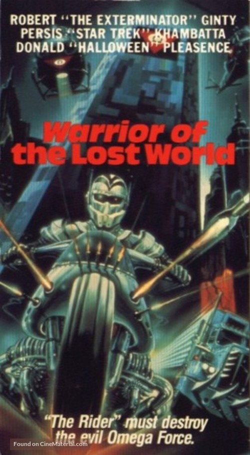Warrior of the Lost World - VHS movie cover
