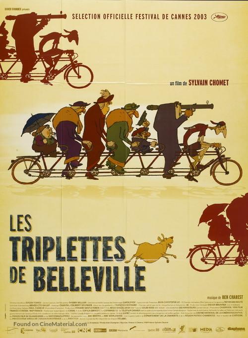 Les triplettes de Belleville - French Movie Poster