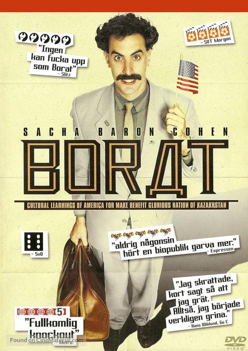 Borat: Cultural Learnings of America for Make Benefit Glorious Nation of Kazakhstan - Swedish DVD cover