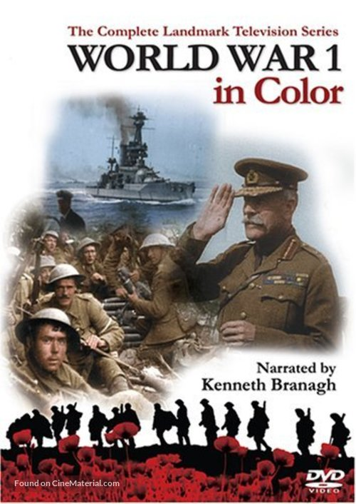 """World War 1 in Colour"" - DVD movie cover"