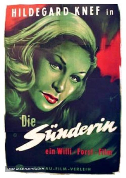 Sünderin, Die - German Movie Poster