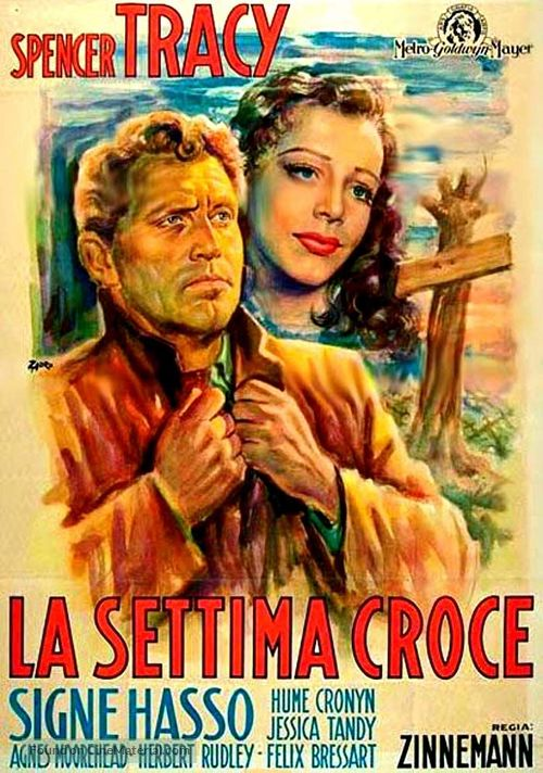 The Seventh Cross - Italian Movie Poster